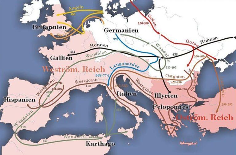 Sytuacja w Europie Środkowej (I-IX w. n.e.)