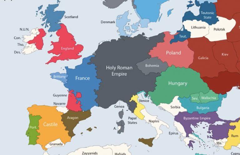 Państwa średniowiecznej Europy: Anglia, Królestwo Francuskie, Święte Cesarstwo Rzymskie