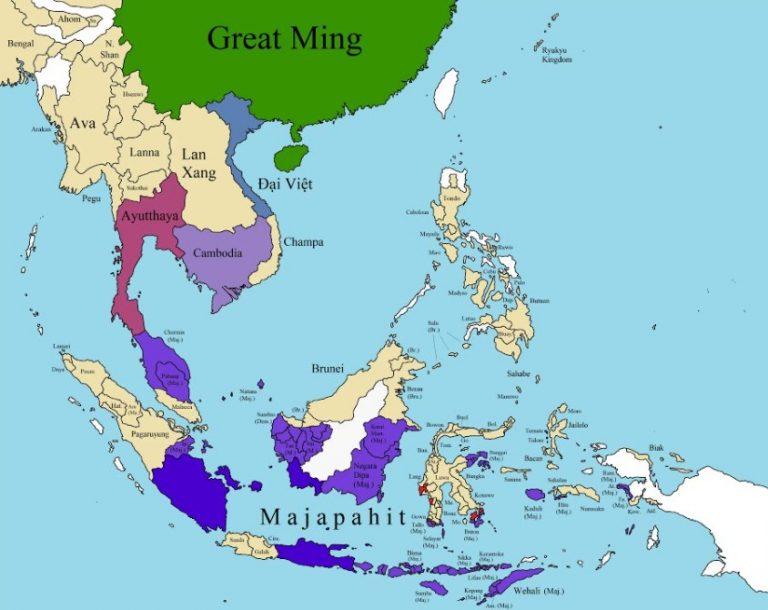 Średniowieczne państwa w Azji Południowo-Wschodniej. Wietnam, Angkor, Tajlandia, Birma (Myanma)