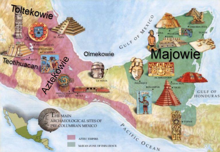 Wczesne (Prekolumbijskie) cywilizacje w Mezoameryce. Olmekowie, Majowie, Toltekowie, Aztekowie