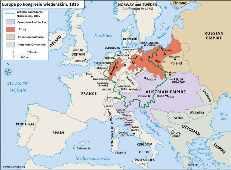 Europa po kongresie wiedeńskim (Koncert mocarstw). Reakcja i rewolucja