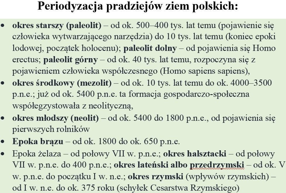 Periodyzacja pradziejów ziem polskich