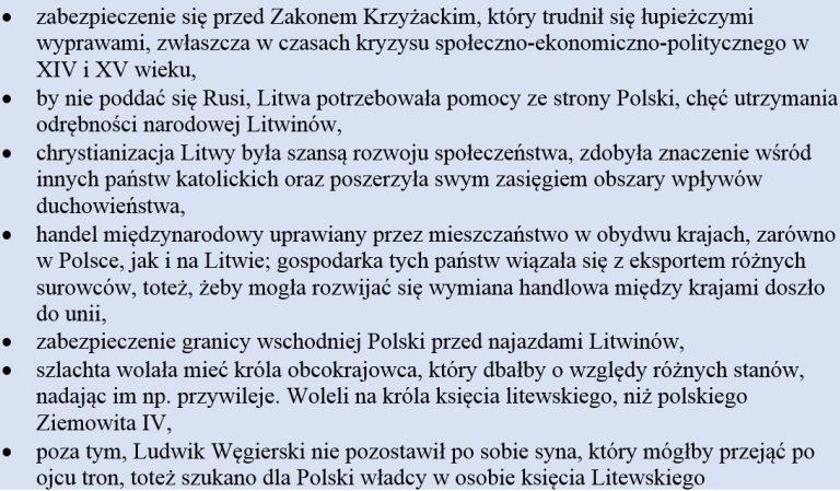 Przyczyny unii polsko-litewskiej