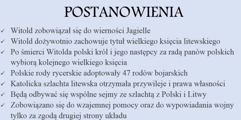 Unia w Horodle i stosunki polsko-litewskie